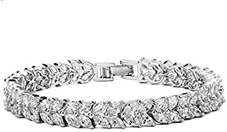 Swarovski Elements Jewelry 18K white gold Plated elegant luxurious diamonds bangle crystal Charm Bracelet for women JINB25