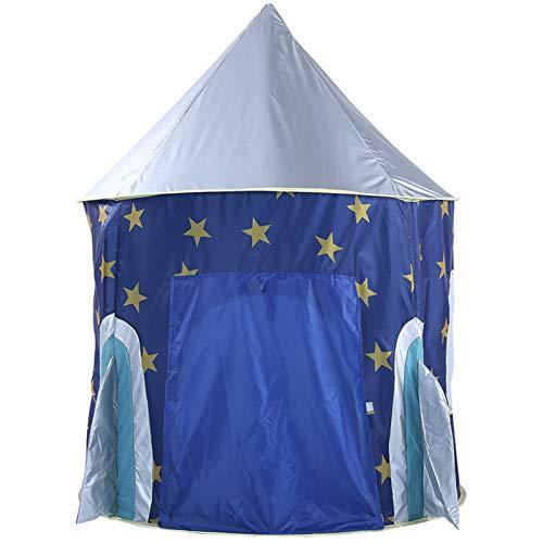HUIGE Kids Play Tent, Grande Rocket Star Castle Pop Forma De Juego Carpa Plegable De Juegos para Niños Casa para Interiores Y Juegos Al Aire Libre Gran Regalo para Niñas Y Niños
