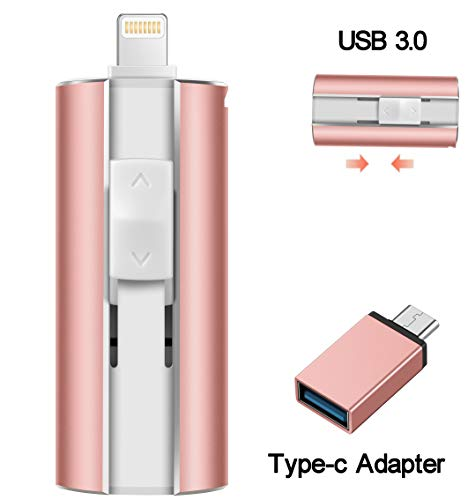 USB Flash Drive 128Gb, Photo Stick for iPhone 3.0 Photostick Mobile iPhone Memory Stick Lightning Ixpand Flash Drive for iPhone and ipad/iOS/MacBook/Computer/OTG/Android Phone