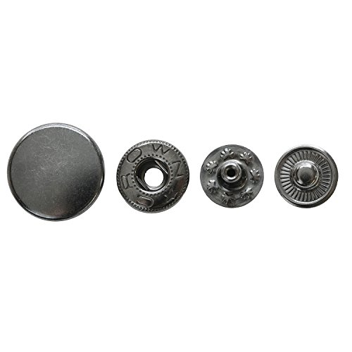 日本紐釦貿易 バネホックブラックニッケル直径15mm 6組 F12-17
