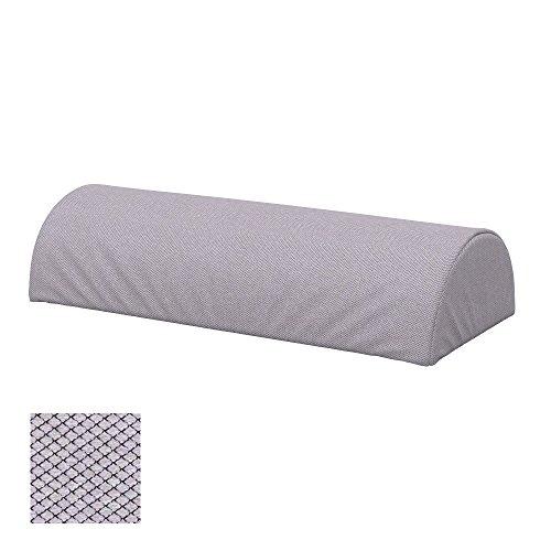 Soferia - IKEA BEDDINGE Funda para cojín, Forma semicircular, Nordic Light Grey