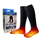 MISBEST Heated Electric Warm Thermal Boot Socks,Rechargeable Battery Powered Winter Foot Warmers,Winter Heating Sox Chronically Feet(Battery not Included) (Black)