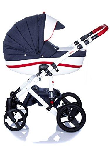 Kombi Kinderwagen Travel System Adamex Vicco R1 3in1 Buggy Sportwagen Babyschale Autositz Kite 0-13kg (2in1)