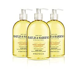 3 x 500 ml Baylis & Harding Sweet Mandarin and Grapefruit Hand Wash A subtle yet spicy fusion of soothing jasmine and orange blossom behind zesty top notes of sweet mandarin, grapefruit and lemon Adds a luxurious touch to your bathroom, while keeping...