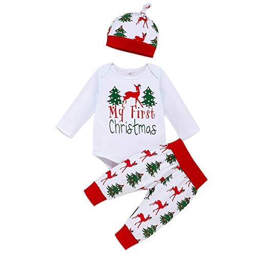 Cuteelf Kinder Langarm Weihnachten Cartoon Deer Print Mit Kapuze T-Shirt + Hosen Set Baby Jungen Weihnachten Warme Bequeme Hoodie Pullover Weihnachtskostüm