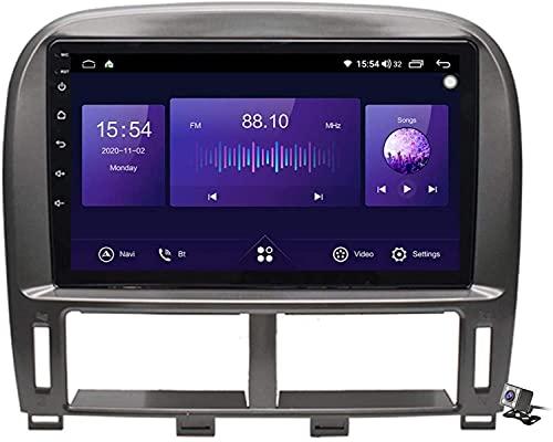 FDGBCF Android 9.1 Navegación GPS Radio Estéreo para Lexus LS430 XF30 LS430 2000-2006 9'Pantalla Coche Reproductor Multimedia Soporte Carpaly/5G FM RDS/Control Volante/Bluetooth Manos Libres