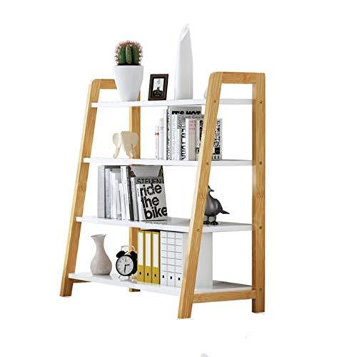 Leiterhalter, Bambusrahmen/Curved Entwurf, Küchenwagen Lagerung Storage Rack, einfache Montage, for Küche/Wohnzimmer/Bücherregal (Color : 13.8in)
