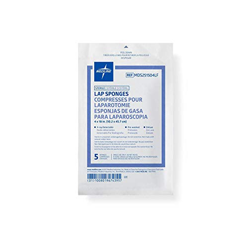 Medline MDS251504LF Sponge, Lap, 4