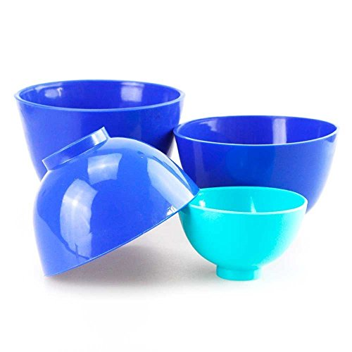 Dental Lab Rubber Mixing Bowls Flexible Impression 4 pcs