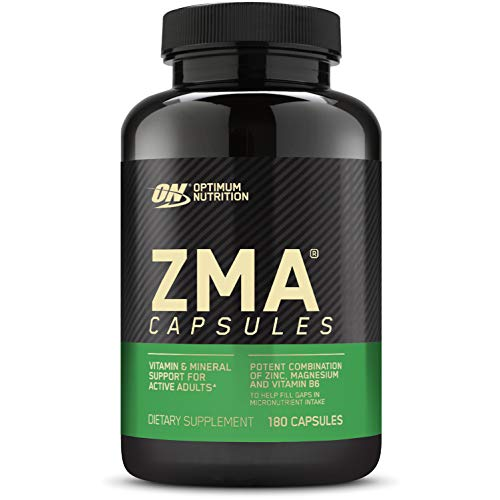 affodable Optimal nutrition ZMA, immunity-supporting zinc supplements, male and female muscle regeneration and endurance, zinc magnesium supplements, 180 pieces (packs may vary)