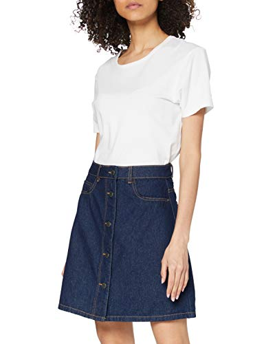 NOISY MAY Damen NMSUNNY SHORTDNM SKATER SKIRT GU027 NOOS Rock, Blau (Dark Blue Denim), 36 (Herstellergröße: S)