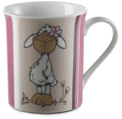NICI Mouton Jolly Rosa-Mug 8,5 cm