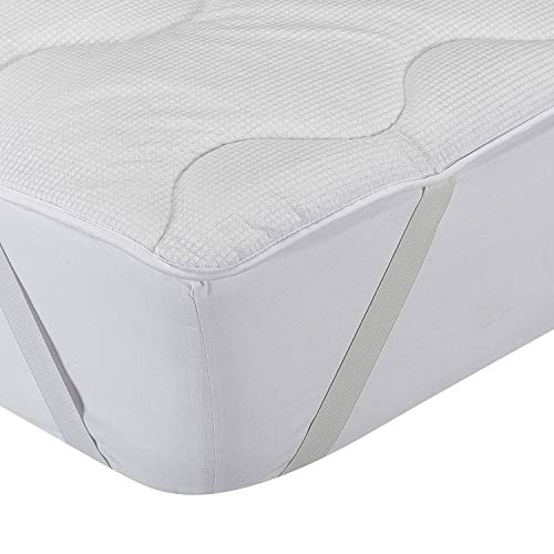 Classic Blanc - Topper / Faser Matratzenauflage Komfort, temperaturausgleichend, Festigkeit mittel-stark, 105 x 200 cm, Höhe 4 cm, Bett 105