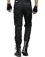 LHHMZ Pantalones de Carga Militar de Combate táctico para Hombres Pantalones Negros de Camuflaje de Aventura al Aire Libre Tiro de Caza Pantalones con Rodilleras