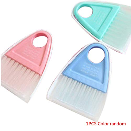 Plastic Mini Broom Stofzuigerborstel Toetsenbord Set Tafel Bureau Toetsenbord Reiniging Tool Willekeurige Kleur