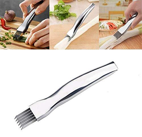 eurgieyhm Shred Silk The Knife, Scallion Slicer Shredder, Gemüseschredder Und Slicer, Food Speedy Chopper Mini Slicer, Edelstahl Green Spring Onion Gemüseschredder Slicer Cutter (1 Stck)