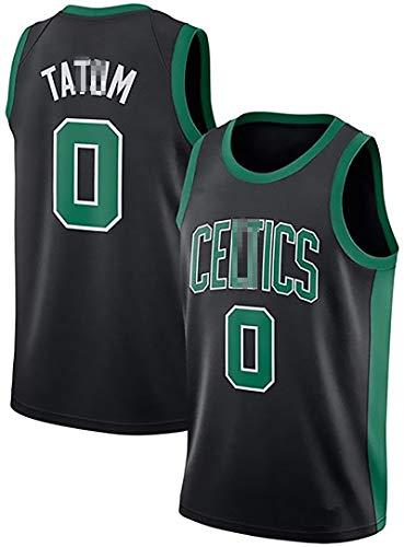 Celtics # 0 Tatum Jersey Baloncesto, Columpio Jersey para la Nueva Temporada, de Secado rápido Chaleco, Camiseta sin Mangas, adecuados para la formación y la Ropa de Black-XXL