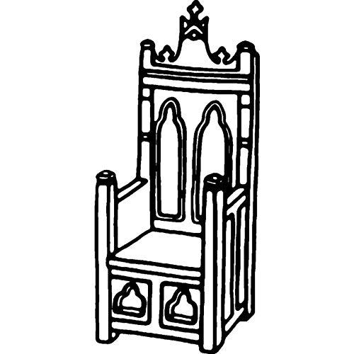 Azeeda A8 'Mittelalterlicher Thron' Stempel (Unmontiert) (RS00026785)