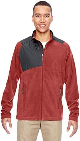 North End Men's fleece Jacket Comfortable Excursion Trail Fabric-Block Fleece Jacket (88215) Rustic Color