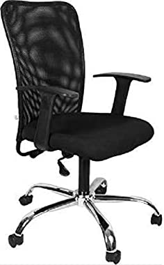 FURNICOM Chairs -Sigm mid Back Mesh Chair Ergonomic Design Office Computer Chair Living Room Chair Staff Chair Push Back Chai