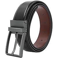 Yoobure Genuine Leather Reversible Dress Belt (size 32) (Black/Brown)
