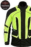 Texpeed - Textil-Motorradjacke mit CE-Protektoren - High Visibility - Wasserdicht - XL
