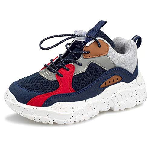 Harvest Land Unisex Kinder Sneakers Tennisschuhe mädchen Hallenschuhe Jungen Schuhe Festliche Leuchtschuhe Wanderschuhe Turnschuhe Sportschuhe für Jungs, Blau Marine, 28 EU