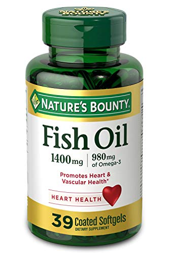 Nature's Bounty Fish Oil, 1400mg, 980mg of Omega-3, 39 Softgels