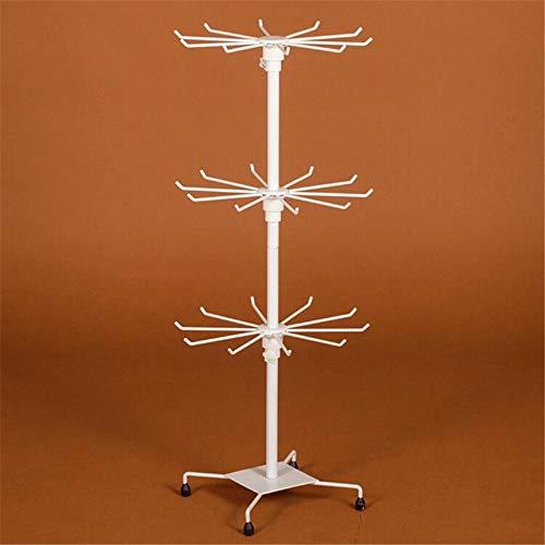EVFIT Organizador de joyería Creativo de Tres Capas Rotativo Rotativo Teléfono Móvil Colgante Collar Estante Estante de Exhibición Soporte de Exhibición de Joyería (Color : White, Size : 70x30cm)