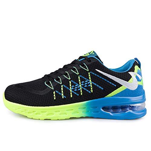 CXQWAN Chaussures de Marche légères pour Homme Antidérapant Résistant à l'usure Convient pour la Marche, la Gym, Le Jogging, Le Fitness athlétique, Bleu, 37