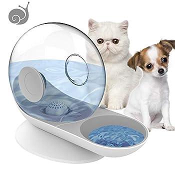 HappyCat Distributeur d'eau automatique pour petits animaux domestiques, chiens, chats et chats (escargot vert), gris