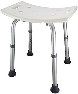 Ez2care Adjustable Lightweight Shower Bench, Bathtub Stool, White, 12.5 to 18 inch