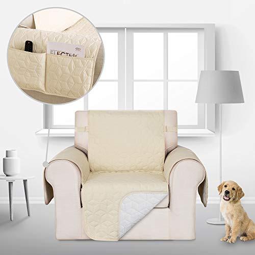 Deconovo Sofahusse Sofabezug Couch husse Sofaüberwurf 54x190 cm Beige 1-Sitzer