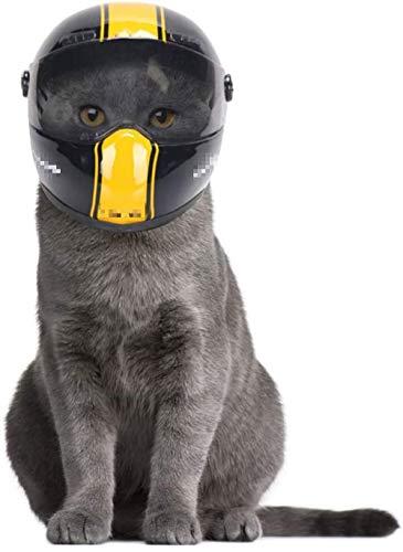 QYC Mascotas Casco,Casco de Perro,Gato Cascos Mascota,Puppy Cat Hat,Motocicletas Casco Mini para Mascotas,Pet Cool Moda Gorras para Motocicletas Accesorios para Fotos Proteger Accesorios para Mascotas