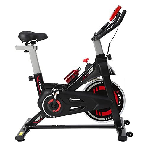 Spinning Bike Con Monitor, Cyclette Da Casa Con Sella e Manubrio Regolabile, Bici da Spin Bike Per Allenamento a Casa Glutei e Addominali