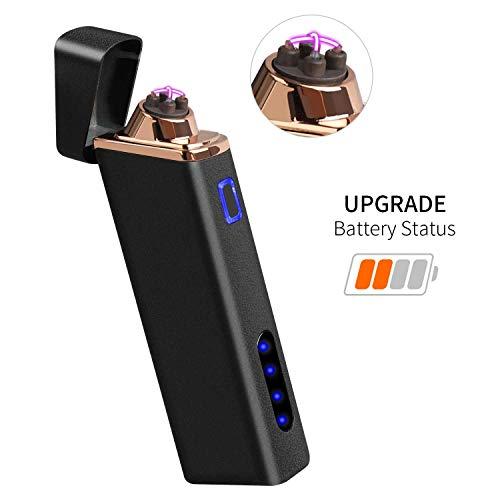 Accendino Elettrico, Accendino USB Ricaricabile Accendino Antivento Accendino al Plasma per...