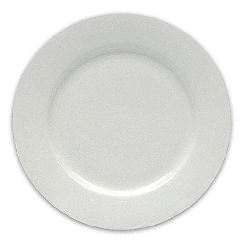 Maxwell & Williams Round Teller Rund, White Basic Square, Speiseteller, Essteller, Kuchenteller, Geschirr, Porzellan, Weiß, 27.5 cm, P0113