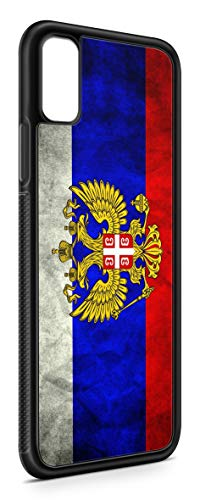 Kompatibel mit iPhone XS Max Silikon Handyhülle Flexibles Slim Case Cover Russland Fahne Flagge Schwarz
