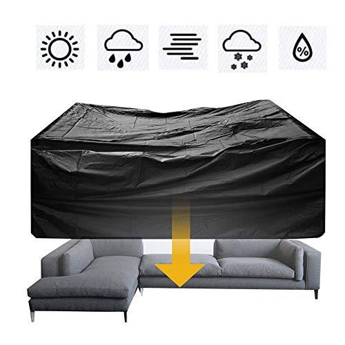 MAHFEI Mesa Silla Protección Teng Freizeitsofa Schutzhülle UV-Schutz Reißfestigkeit Außenterrasse Oxford Tuch 27 Größe Anpassbare (Color : Black, Size : 100×100×85cm)