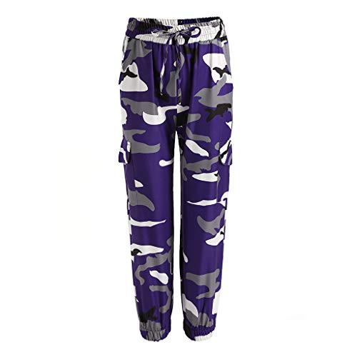 KUKICAT Damen Laufhose Sporthose Sport Leggings Tights Damen Camouflage Printed Fashion Pants Damen Sport Freizeithosen