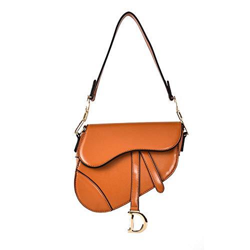 Saddle Bag Vintage Crossbody Bags for Women Satchel Handbags PU leather -brown