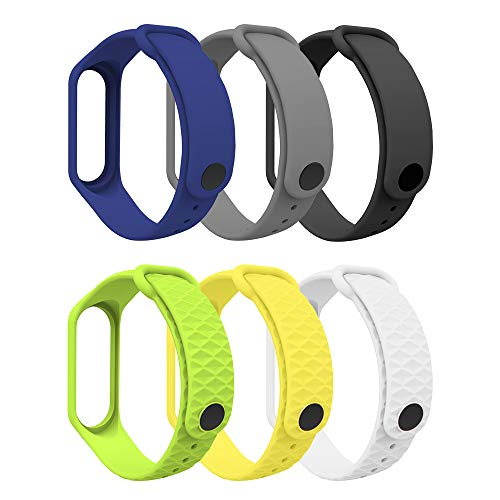 MoKo Armband Kompatibel mit Xiaomi Mi Band 3/Mi Band 4, Weich TPU Ersatzband Uhrenarmband Sport Ersatz Fitness Armbänder Wristband für Xiaomi Mi Band 3/Mi Band 4 - Mehrfarbig A