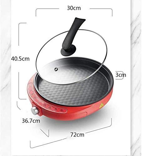 41CdvgZGg6L - Zyyqt Brotbackmaschine Waffeleisen, Nonstick Elektro Pfannkuchen Maker Griddle, elektrische Pfanne mit Batter Spreader Temperaturregelung for Tortilla Eier