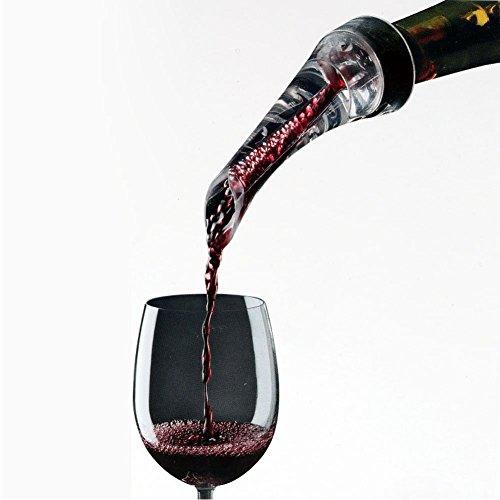 FosFun verseur aérateur de vin - aération bec verseur pour vins rouges et blancs - Décanter le vin avec élégance et simplicité