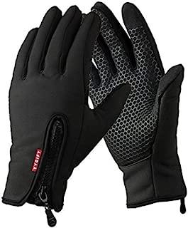 YYGIFT Touch Screen Gloves Outdoor Waterproof Winter Gloves Wind-Stopper Non-Slip Palm for Men Women