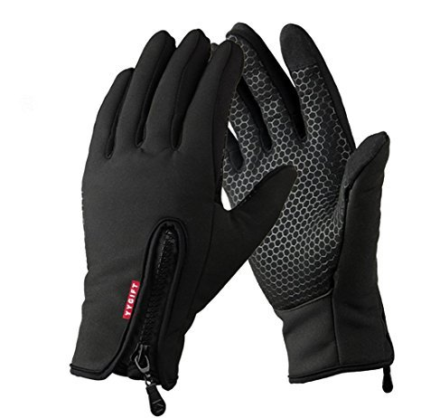 YYGIFT Touch Screen Gloves Outdoor Sports Winter Gloves Wind-Stopper Warm Gloves for Men Women (Updated Version-Black, XL)