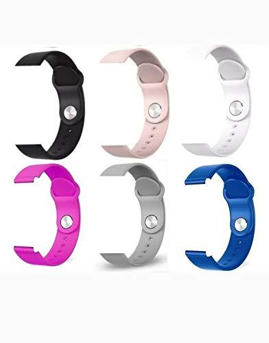 Pulseira Silicone para Smartwatch B57 Preto (para outras cores enviar mensagem no pedido)