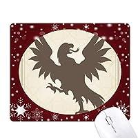 ヨーロッパの動物の国章のハゲワシ オフィス用雪ゴムマウスパッド