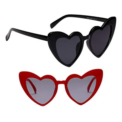 Sharplace Gafas de Sol con Montura de Corazón para Mujer de 2 Uds.
