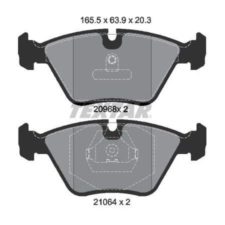 Textar Original Bremsbelagsatz Scheibenbremse Vorderachse Auto
